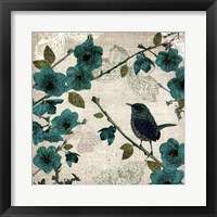 Birds and Butterflies I Framed Print