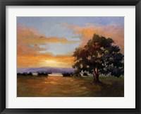 A Sunset Salute Framed Print