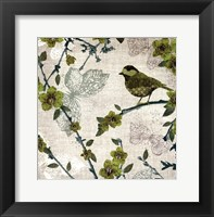 Birds and Butterflies II Framed Print