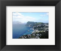 Framed Aerial view of Capri Harbour