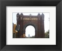 Framed Barcelona Arc de Triomf