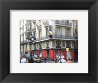 Framed Barcelona Busy Street