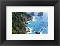 Framed Capri Coastline