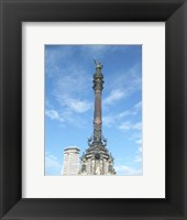 Framed Columbus Column Barcelona