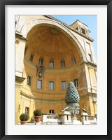 Framed Pinecone Statue in the Vatican