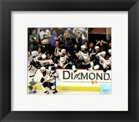 Framed Boston Bruins Bench Celebration Game 7 of the 2011 NHL Stanley Cup Finals(#55)