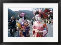 Framed Geishas, Kyoto, Honshu, Japan