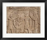 Framed Ramses II in front of Amun and Sethi I, Luxor Temple, Aswan, Egypt