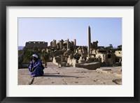Framed Karnak Temple  Luxor  Egypt
