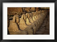 Framed Avenue of the Sphinxes Karnak Temple Luxor Egypt