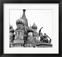 Framed Monument of Minin and Pozharsky St. Basil's Cathedral Moscow Russia