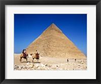 Framed Giza Pyramids, Giza, Egypt