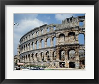 Framed Roman Amphitheater, Pula, Croatia