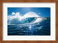 Framed Surfer on the ocean