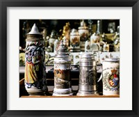 Framed Close-up of beer steins, Bavaria, Germany