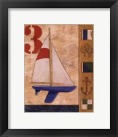 Model Yacht Collage II Framed Print