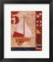 Model Yacht Collage IV Framed Print