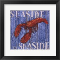 Coastal USA Lobster Framed Print