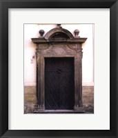 Prague Door I Framed Print
