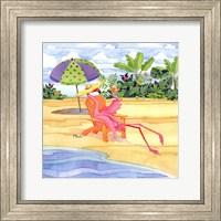 Framed Beach Chair Flamingo