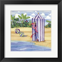 Cabana Flamingo Framed Print