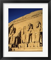Framed Great Temple of Ramses II, Abu Simbel, Egypt