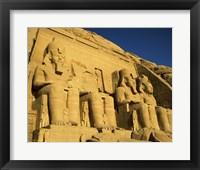 Framed Great Temple of Ramses II, Abu Simbel, Egypt