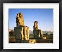 Framed Colossi of Memnon, Luxor, Egypt