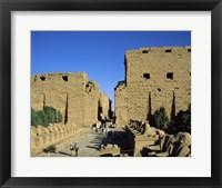 Framed Avenue of the Sphinxes, Temples of Karnak, Luxor, Egypt