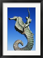 Framed Sea horse statue, Puerto Vallarta, Mexico