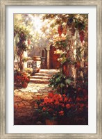 Framed Courtyard Romance
