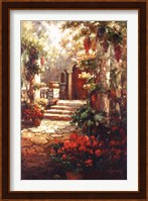 Framed Courtyard Romance
