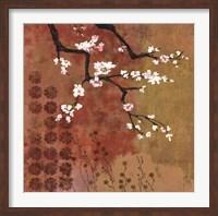 Framed Japanese Branch Floral
