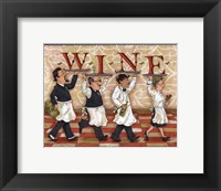 Waiters Wine Framed Print