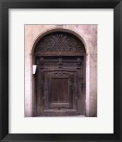 Framed Prague Door IV