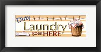 Dirt Laundry Framed Print