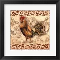 Framed Toile Rooster I