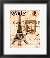 Paris Collage I Framed Print