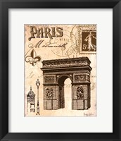 Paris Collage II Framed Print