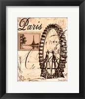 Paris Collage III Framed Print
