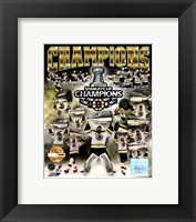 Framed Boston Bruins 2011 NHL Stanley Cup Finals Champions Limited Edition PF Gold (5000 8x10's, 500 each enlargement size)