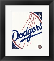 Framed 2011 Los Angeles Dodgers Team Logo