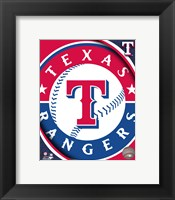 Framed 2011 Texas Rangers Team Logo