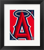 Framed 2011 Los Angeles Angels Team Logo