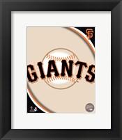Framed 2011 San Francisco Giants Team Logo