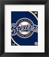 Framed 2011 Milwaukee Brewers Team Logo