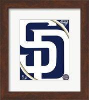 Framed 2011 San Diego Padres Team Logo