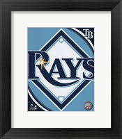 Framed 2011 Tampa Bay Rays Team Logo