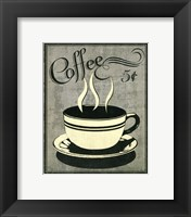 Framed Retro Coffee I