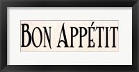 Framed Bon Appétit I